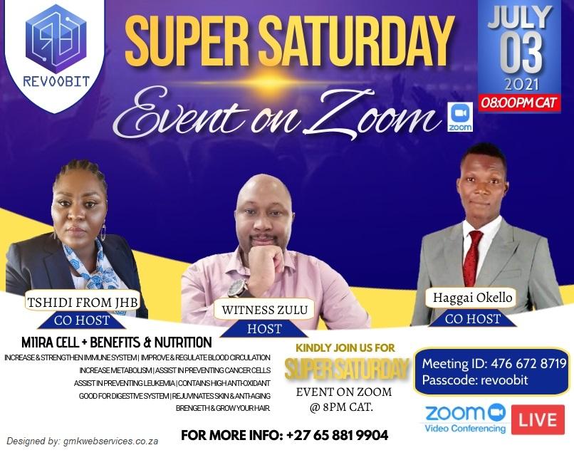 Super Saturday Zoom Event